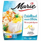 Marie cabillaud sauce citron riz aux petits légumes 290g
