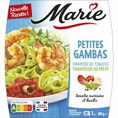 Marie petites gambas tagliatelles persillées et confit de tomates 280g
