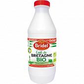 Bridel lait de Bretagne pasteurisé entier bio 1l