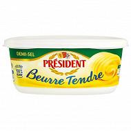 Président beurre tendre demi-sel beurrier 250g