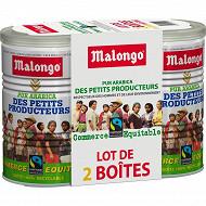 Malongo max havelaar lot petits producteurs commerce équitable 2x250g