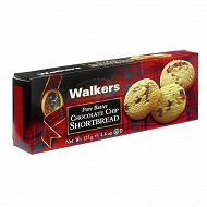Walkers chocolate chip shortbread 125g
