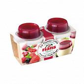 Rians panna cotta au coulis de 5 fruits rouges 2x120g