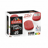 Charal hachés happy family 20x80g