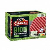 Charal bifteck haché bio 12% MG 8x100g