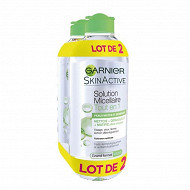 Garnier skin natural eau micellaire toilette expert peau mixte 2 x 400ml
