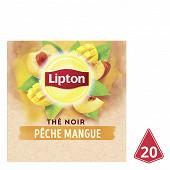 Lipton thé pêche mangue x20 36g