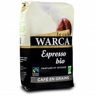 Warca café grains espresso bio max havelaar paquet 500g