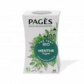 Pages thé vert à la menthe bio x20s 36g
