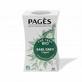 Pages thé vert earl grey bio x20s 36g