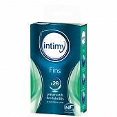 Préservatifs fins lubrifiés Intimy x28