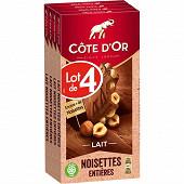 Côte d'or lait noisettes 4 x 180g