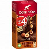 Côte d'or noir noisettes 4 x 180g