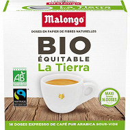 Malongo la terra bio max havelaar 123 espresso x16 104g