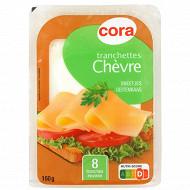 Cora tranchettes chèvre 34%mg - 8 tranches lait pasteurisé 160g