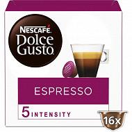 Nescafé Dolce Gusto Espresso, capsule café intensité 5 - x16 dosettes