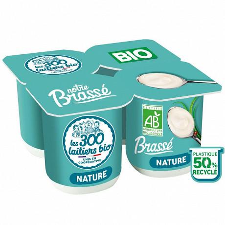 Les 300 & bio yaourt brassé bio nature 4x125g