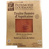 Patrimoine Gourmand Truite fumée 4 tranches minimum 120g