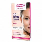 Laurence Dumont bandelettes de cire visage x20 + flaconnette d'azulène offerte