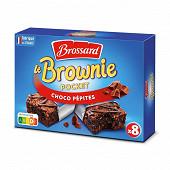Brossard mini brownies pépites de chocolat, 8 gâteaux 240g