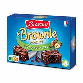 Brossard mini brownies au chocolat et noisettes, 8 gâteaux 240g