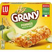 Grany 6 barres céréales et pommes vertes 125 g