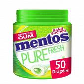 Mentos gum pure fresh citrus au thé vert ss 50 dragées 100g