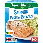 Fleury Michon filet de saumon et purée de brocolis 300g