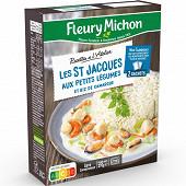 Fleury michon étuvée de St Jacques aux petits légumes et riz basmati  270g