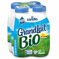 Grandlait bio 1/2 écrémé bouteille plastique 4x50cl