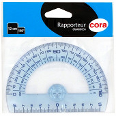 Cora rapporteur 180° plastique 12 cm