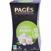 Pages thé vert jasmin bio x20s 36g