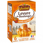 Vahiné levure de boulanger 6 sachets 27g