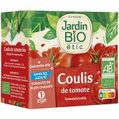 Jardin Bio étic coulis de tomate bio brique tetra de 500g