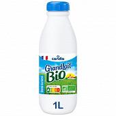 Grandlait bio lait 1/2 écrémé bouteille 1l