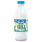 Lactel lait bio pasteurisé demi écrémé 1l