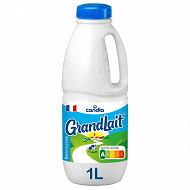 Grandlait lait demi-écrémé collecté dans des fermes sélectionnées 1l