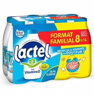 Lactel lait demi écrémé 8x1l format familial