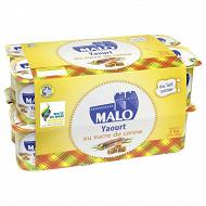 Malo yaourts nature sucré au sucre de canne 16 x 125g