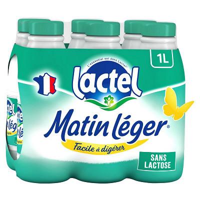 Lactel Lactel matin léger écrémé avec 0.5% de lactose 6 x 1 l