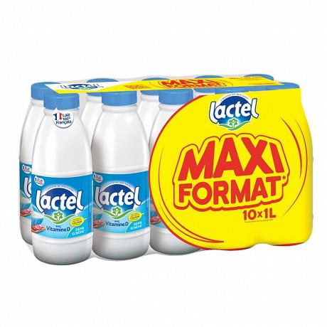 Lactel lait demi-écrémé UHT bouteille 10x1l maxi format