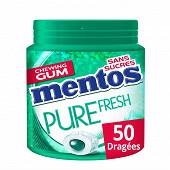 Mentos gum pure fresh chloro au thé vert ss 50 dragées 100g