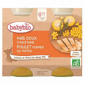 Babybio légumes maïs poulet sans gluten dès 8 mois 2x200g
