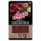 Aoste Sélection viande des grisons 10 tranches 80g