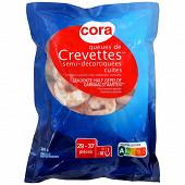 Cora crevettes décortiquées cuites 300g