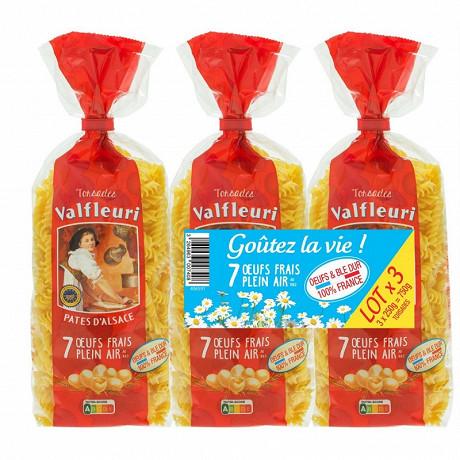 Valfleuri pâtes d'Alsace Torsade lot 3x250g