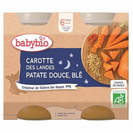 Babybio bonne nuit légumes variés blé dès 6 mois 2x200g