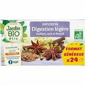 Jardin bio étic infusion digestion légère bio étui + 24 sachets 36g