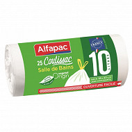Alfapac coulissac 10L salle de bain x25 matière végétale