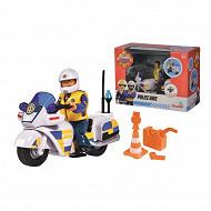 Sam le pompier moto police + 1 figurine